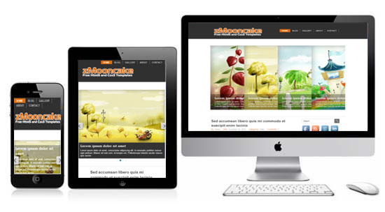 zMooncake Free Html5 Responsive Template