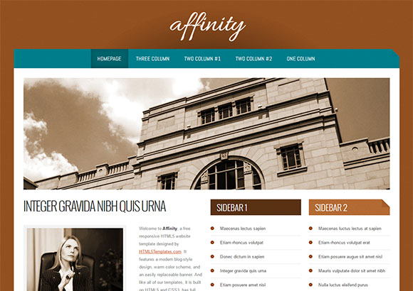 Affinity Html5 Theme