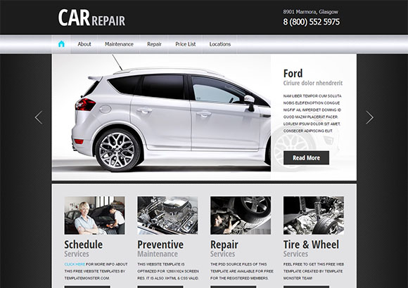 CarRepair2 Html5 Theme