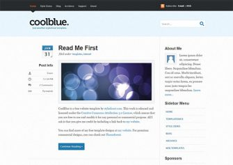 CoolBlue – Free Html5 Template