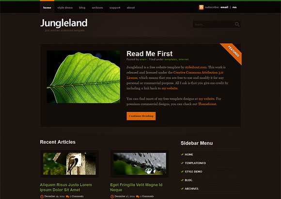 Jungleland Html5 Theme