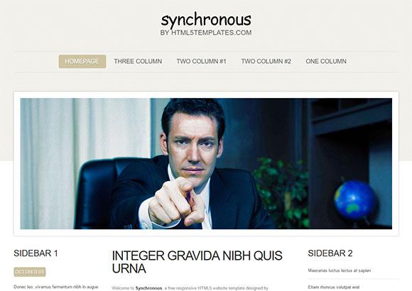 Synchronous Html5 Theme