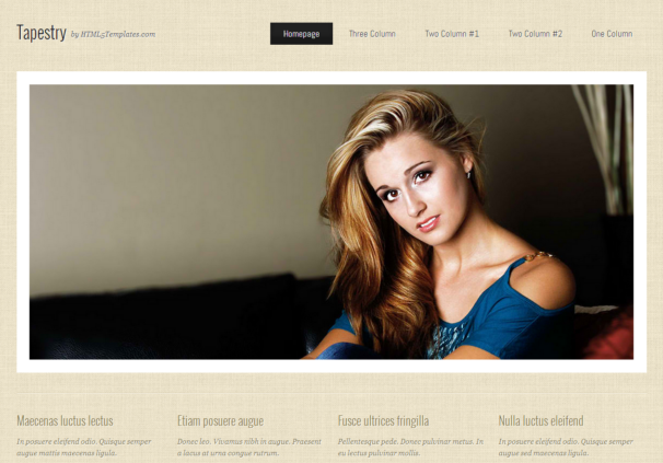 Tapestry theme [Free Html5 and Css3 Templates]