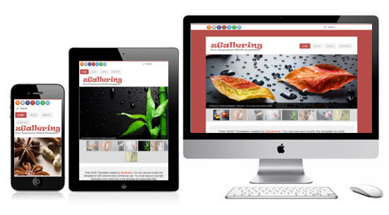 Zgallering responsive html5 theme html5xcss3 zgallering free html5 responsive template maxwellsz