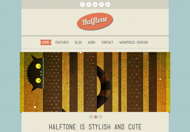 HalfTone Template [Free Html5 and Css3 Templates]