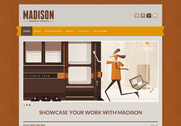 madison responsive html5 template html5xcss3