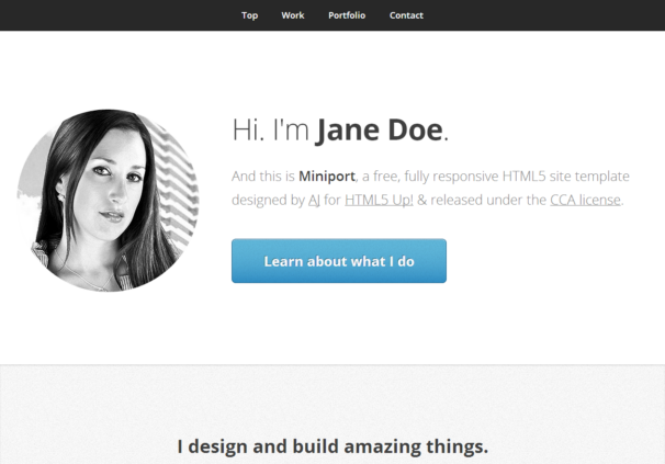 Miniport theme  [Free Html5 and Css3 Templates]