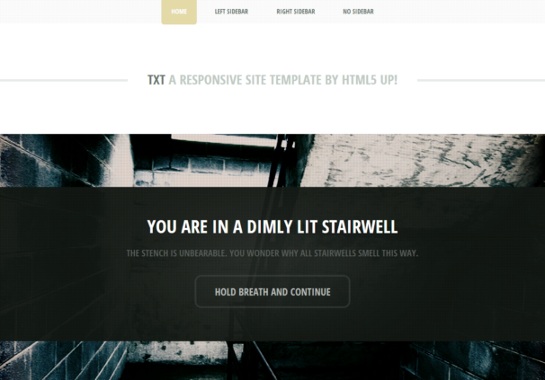 TXT theme  [Free Html5 and Css3 Templates]