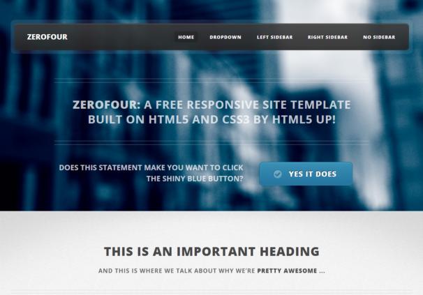 ZeroFour Theme  [Free Html5 and Css3 Templates]