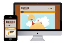 madison free responsive html5 template