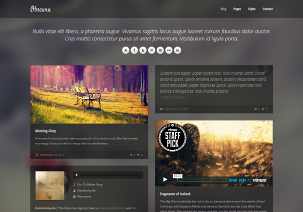 Obscura [Free Html5 and Css3 Templates]