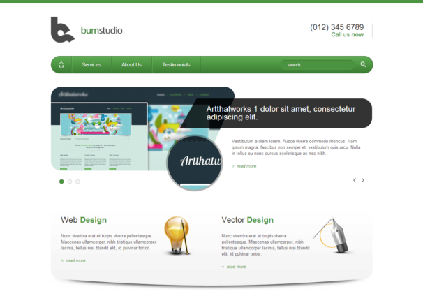 Burnstudio responsive html5 template html5xcss3 for Free website templates html5