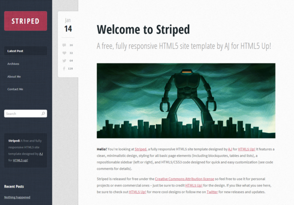 Striped [Free Html5 and Css3 Templates]