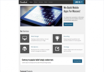 FacebukLight – Free Html5 Template