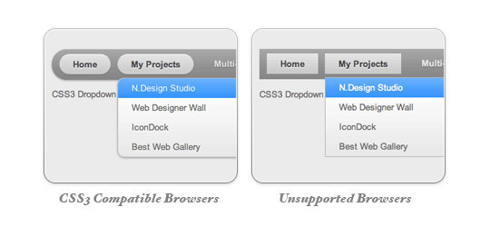 CSS3 Dropdown Menu