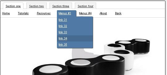 CSS3 jQuery Crossbrowser Drop-down menu with Tabs