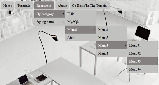 Click action Multi-level CSS3 Dropdown Menu