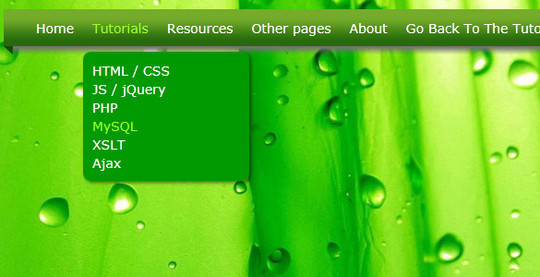 Creating a CSS3 Dropdown Menu