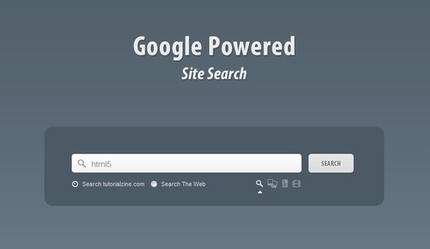 Google Powered Search box
