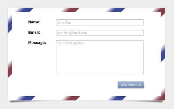 HTML5 & CSS3 envelope contact form