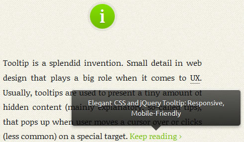 JQuery and CSS3 Mobile-Friendly Tooltip