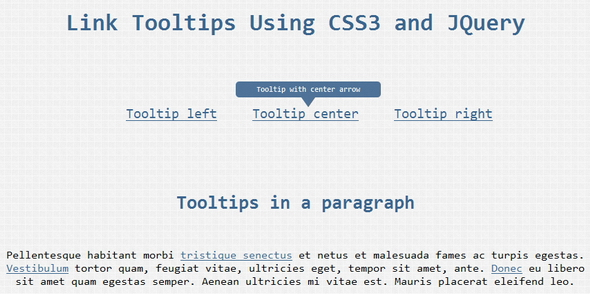 Link Tooltips Using CSS3 and JQuery