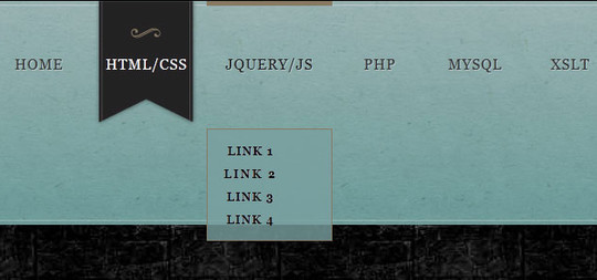 Marble Style CSS3 Navigation Menu
