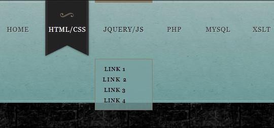 Marble Style CSS3 Navigation Menu