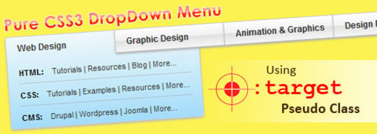 Pure CSS DropDown Menu