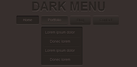 Pure CSS3 Two Level Menu