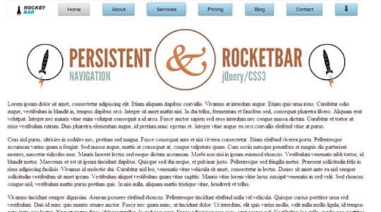 RocketBar A jQuery And CSS3 Persistent Navigation Menu