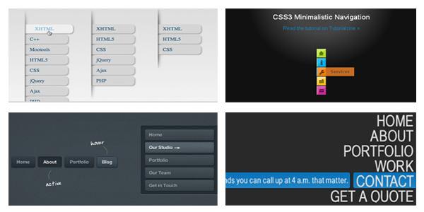 vertical css3 menus