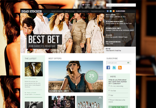 Deadstocker free html5 templates
