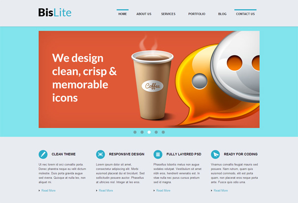 bislite free html5 templates