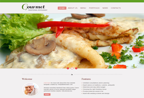 gourmet 2 free html5 templates