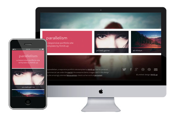 parallelism free responsive html5 templates