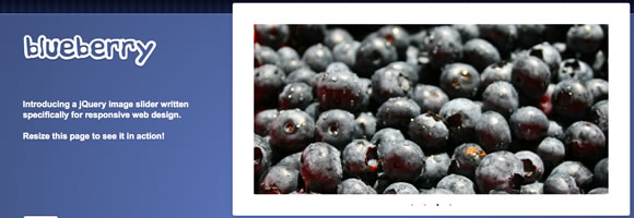 blueberry responsive slideshow