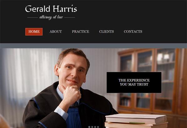 lawharris free html5 template