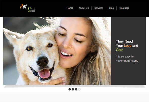 petclub free html5 templates