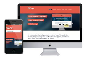 Wee – Responsive Html5 Template