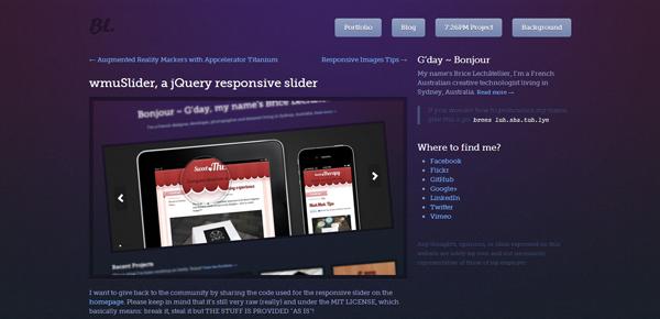 wmuSlider a jQuery responsive slider Brice Lechtellier