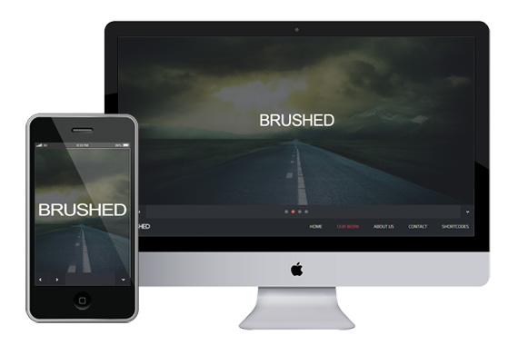brushed responsive html5 templates