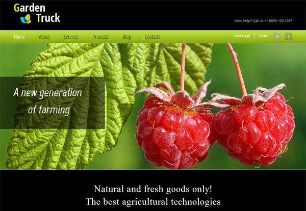 garden truck free html5 templates