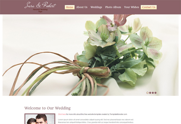 weddingsite free html5 templates