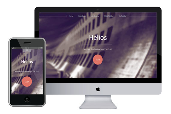 helios free responsive html5 and css3 templates