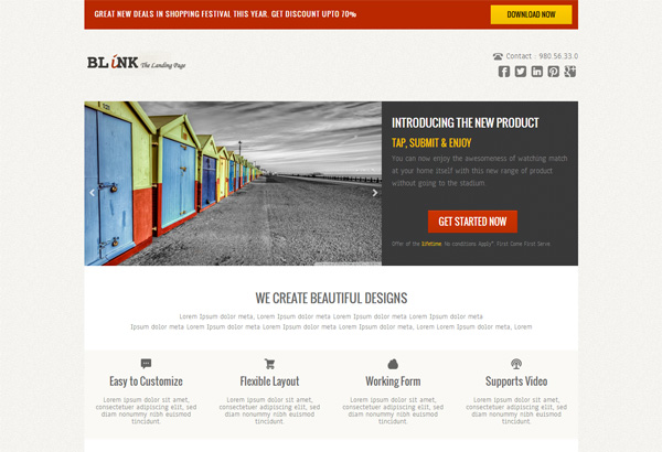 Blink Landing Page html5 and css3 templates