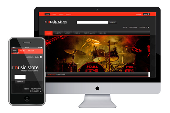 musicstore free responsive html5 css3 templates themes