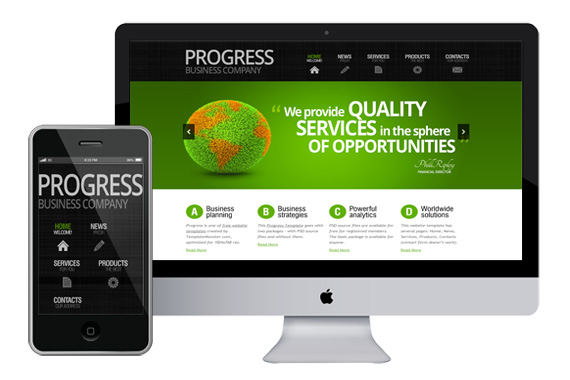 progress free responsive html5 css3 templates themes