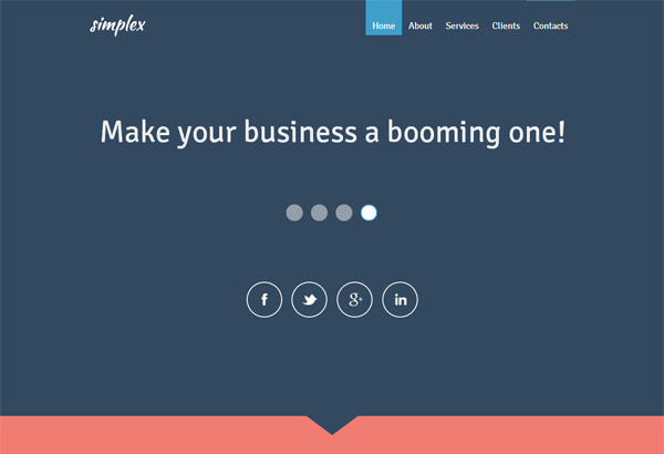 simplex free html5 css3 templates