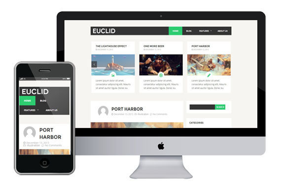 Euclid Free Responsive Html5 Themes z